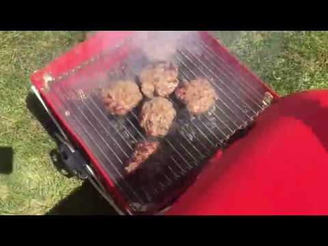 GoBQ Grilling Burgers
