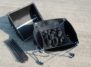 6) Add and light coals